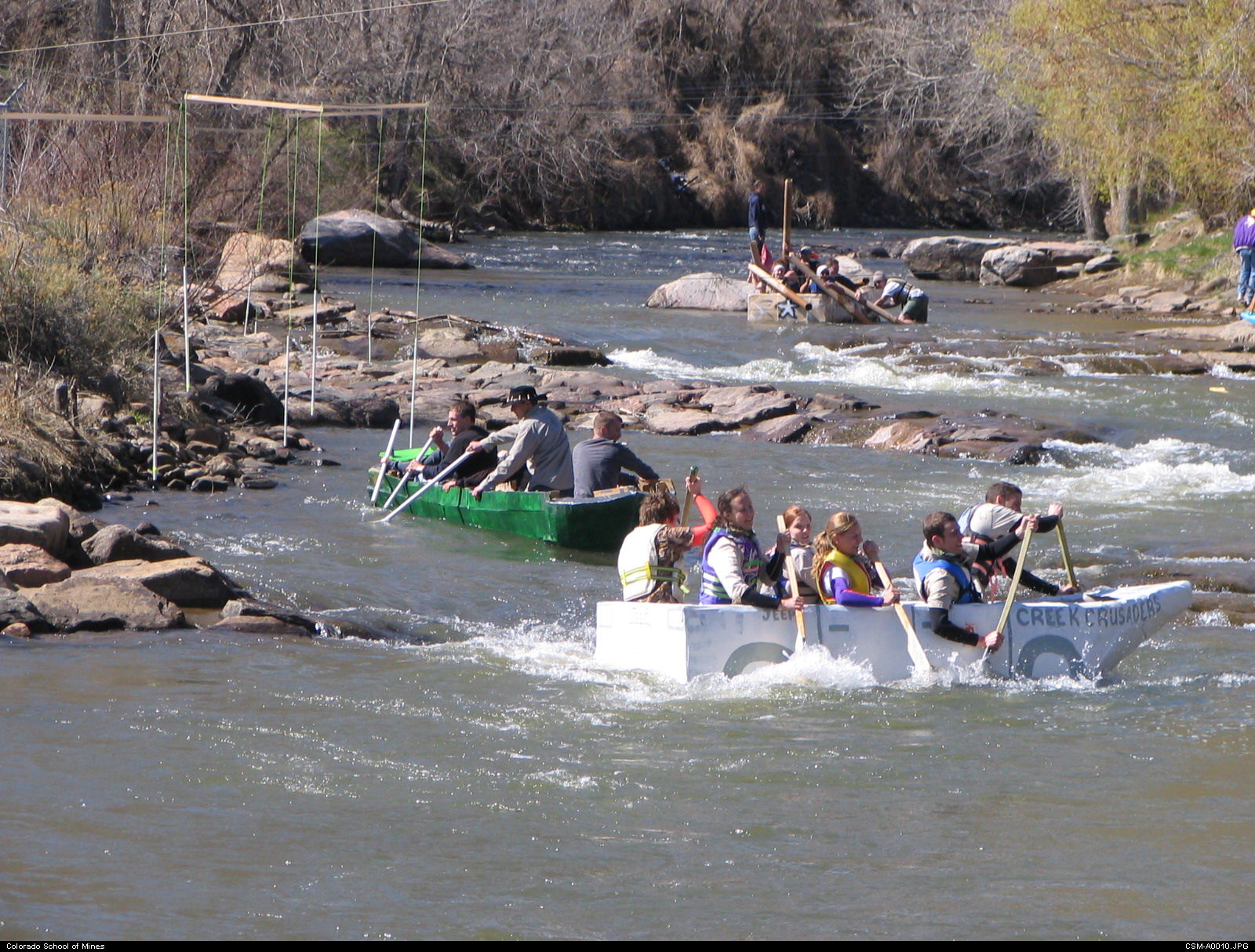 Canoes in Clear Creek
