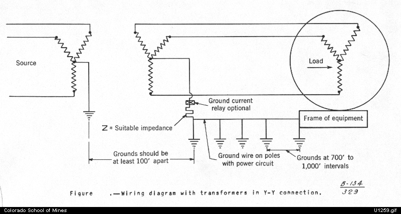 wiring diagram with transformers in the yy connection